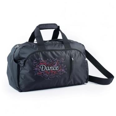 Black & Pink Dance Swirl Holdall