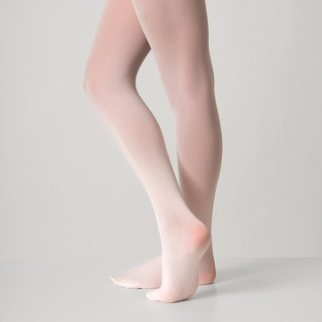 Silky Ballet Full Foot Tights White AD103