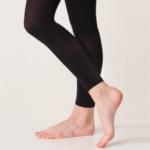 Silky Footless Ballet Tights Black AD124